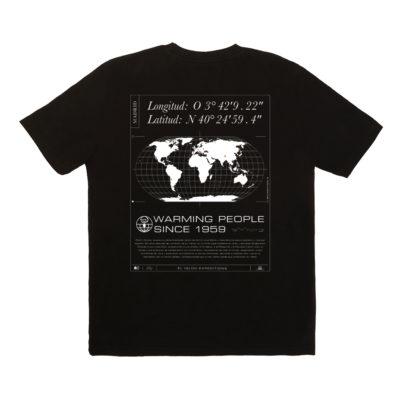 Camiseta Pedro Gómez Madrid Mapamundi Black