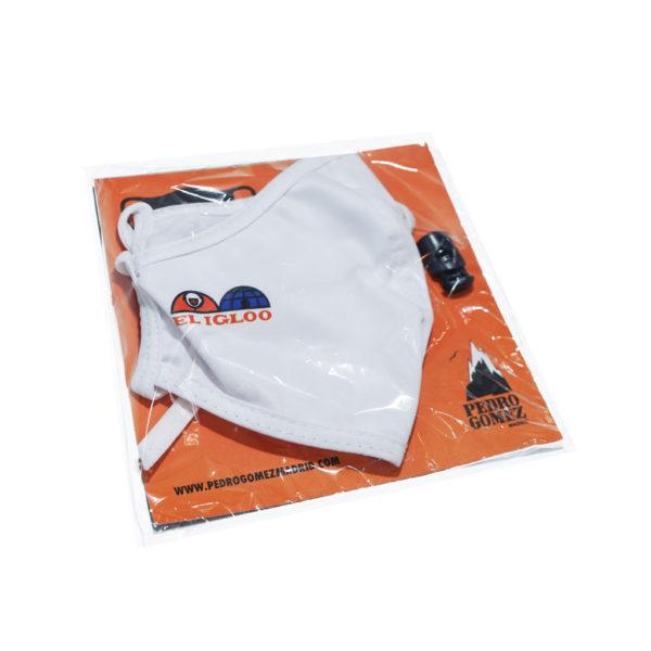 Mascarilla Reutilizable Ajustable El Igloo Blanca