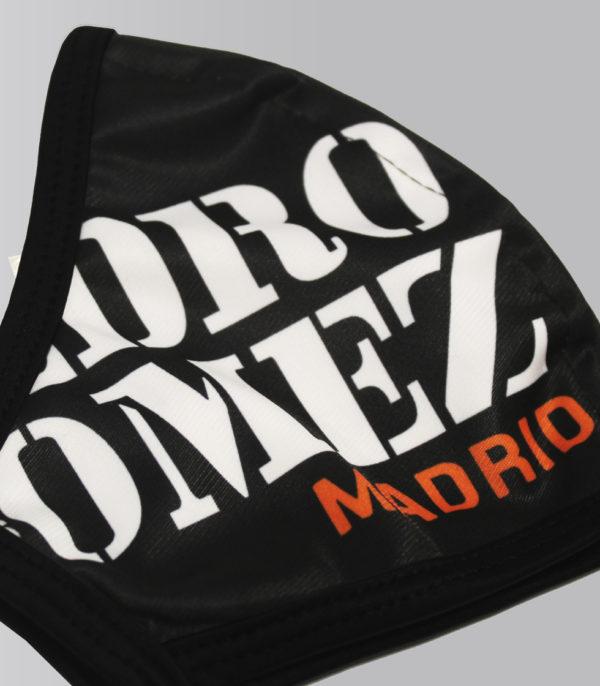 Mascarilla Niño Pedro Logo Grande Negra