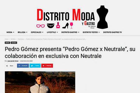Pedro Gómez en Distrito Moda